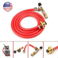 Gas Self Ignition Plumbing Turbo Torch With Hose Solder Propane Welding Kit