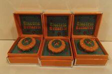 TARINA TARANTINO ELECTRIC BUTTERFLY CAMEO LIPGLOSS RING SET OF 3 NEW IN BOX