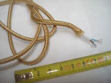 fil électrique gainé tissu OR double isolation (1,5 m)  2 brins 2 x 0,34 mm2