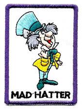 "2.25X3"" MAD HATTER Alice Wonderland March Hare tea Disney IRON ON SEW ON PATCH"
