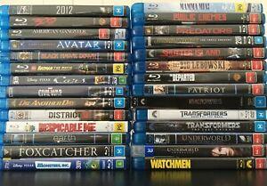 Blu-Ray & 3D Blu-Ray Movies Bulk Listing All Very Good Condition Bluray Bundle