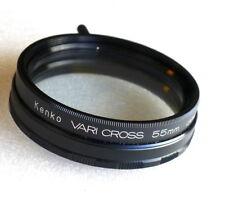 55mm KENKO Vario-Cross Filter - Deluxe Cross Screen - NEW