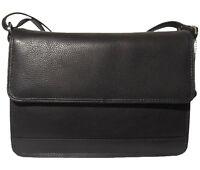 LEDER Tasche WIEN - schwarz - handgefertigt Umhängetasche Unterarmtasche Clutch