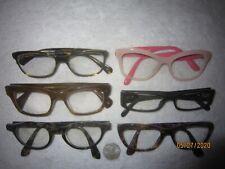 Mixed Lot of 6 OLIVER PEOPLES-PRADA Plastic Eyeglasses Mens Women BIG WIDE SEXY
