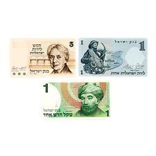 Set of 3 diff. Israel 1958-78 paper money Au-Unc.