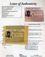Jackie Robinson JSA Coa Autograph Hand Signed 1955 Photo Cut