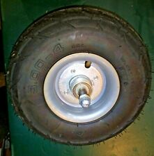"""9TT63 RAZOR SCOOTER PARTS: FRONT TIRE, 3.00-4, 9-1/2"""" X 3"""", WITH AXLE, VERY GOOD"""