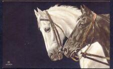 Two Racehorses. Vintage Art Postcard. Carlton Publishing Co (ref 4046/4).