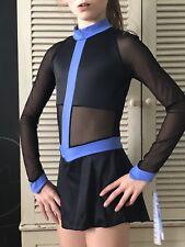Capezio Nwt girls black skating dress size Medium