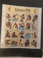 1996 Atlanta Centennial Olympic Games Pane of 20 (32 cents) Stamp Sheet #3068