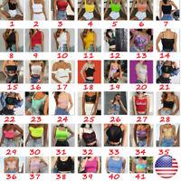 Women Summer Tank Top Vest Blouse Short Sleeve Crop Top Shirt Cami Top Sexy