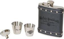 Flask Gift Set Stainless Steel Hip Funnel Shot Box Harley-Davidson Motorcycles