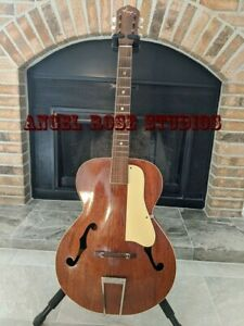 1950'S KAY ARCHTOP ACOUSTIC GUITAR MAHOGANY RARE NICE COLLECTORS ITEM AND PLAYER
