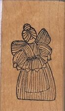 "corn angel art gecko Wood Mounted Rubber Stamp 1 x 2""  Free Shipping"