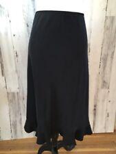 NWT $88 BANANA REPUBLIC Sz 12 Silk Matte Flared Flounce Hem Elastic Waist Skirt