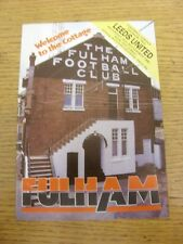 25/09/1982 Fulham v Leeds United  . Item appears to be in good condition unless