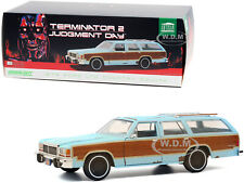 """1979 FORD LTD COUNTRY SQUIRE WEATHERED """"TERMINATOR 2"""" 1/18 CAR GREENLIGHT 19085"""