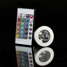 15HE 16-Color E27 Remote Control 3W RGB LED Light Bulb Lamp CR2025 coin battery