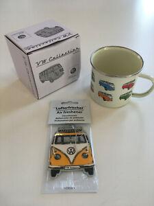 Geschenkeset #03 VW T1 Bulli Bus Becher + Lufterfrischer Lizenzartikel *NEU*
