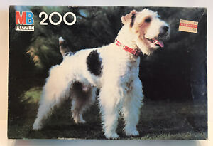 """Terrier 1983 Vintage MB Jigsaw Champion Puzzle, Dog, 16X11"""", 200 Pieces"""