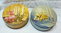 2 Vintage Danish Assorted Cookies Tins From Deer Park Baking, Hammonton, NJ, GC