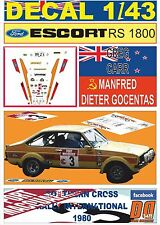 DECAL 1/43 FORD ESCORT RS 1800 GREG CARR SOUTHERN CROSS RALLY 1980 2nd (01)