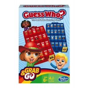 Guess Who Grab and Go Travel Board Game