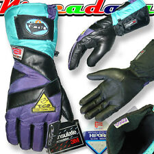 GANTS MOTO CUIR HIVER HIPORA / THINSULATE NEUFS MODELE TAC2 VIOLET TAILLE M