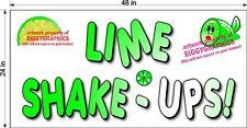 2 X 4 Vinyl Banner Lime Shake Ups Lemonade Drink Horizontal