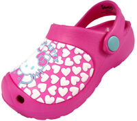INFANT GIRLS HELLO KITTY CLOG BEACH POOL SUMMER SANDAL MULE PINK 6-12 UK