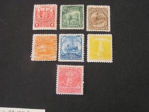 *EL SALVADOR, SCOTT # 159-162(4)+164+167/168(2) TOTAL 7 1897 LOCAL SCENES ISS MH