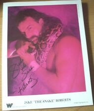 Vintage 1988 WWF Jake 'The Snake' Roberts 8 1/2 x 10 1/2 Photo/Photos'