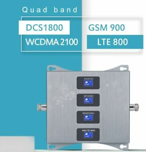 Cell Signal Booster amplifier LTE 800 900 1800 2100MHz Quad Band