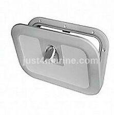 Boat Deck Inspection Access Hatch Grey RAL7042 380 x 280mm 180 Degree Opening