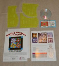 Quilt Templates, Sew Inspired basic design kit Spinning Pinwheels, + Cd & tape