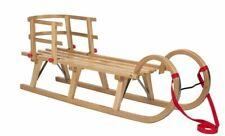 Impag® Hörner-Schlitten 115 cm | 125 cm lang | europäisches Buche Massivholz |