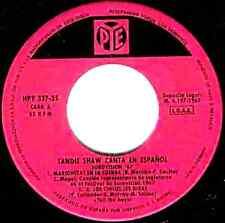 """7"""" - SANDIE SHAW CANTA EN ESPAÑOL (EUROVISION '67) SPANISH EDIT. 1967, VG+"""