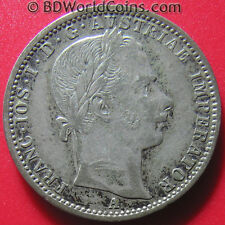 AUSTRIA 1859-A 1/4 FLORIN SILVER VIENNA MINT AUSTRIAN COLLECTABLE COIN 23mm