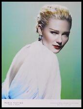 Mario Testino kirsten dunst póster son impresiones artísticas con marco de aluminio en negro 80x60cm