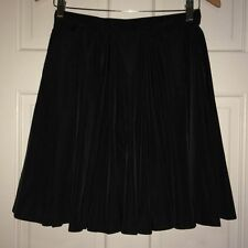 AMERICAN APPAREL BLACK BOXED PLEATED SKIRT AS NEW SIZE LARGE OR ABOUT SIZE 12