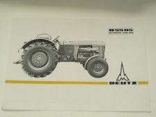 Prospectus  Traktor DEUTZ D 5505  1965  Tracteur prospekt brochure tractor