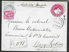 Egypt covers 1903 uprated R-cover HELOUAN to NAGY SZEBEN!
