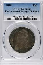 1818 Capped Bust Half Dollar PCGS Genuine XF Detail - Environmental Damage