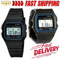 Uhr F-91W Unisex-Armbanduhr Digitaluhr Watch schwarz -Damen Herren Uhr Ganz neu