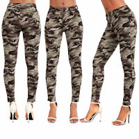 Womens Army Jeans Ladies Military Casual Stretchy Army Skinny Pants Size 6-14