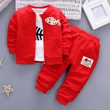 3 pzas Infantil Bebé Niño Ropa Trajes peces Suéter Camiseta+Pantalones largos+