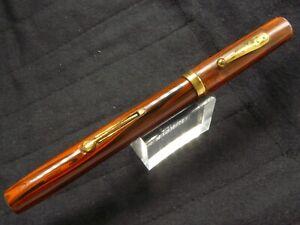 Waterman Ideal 52 Woodgrain  Pen   Flexible Nib  5 3/8'' long Nice Condition