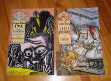 """Classics Illustrated #'s 1 & 2 - Poe """"The Raven"""" & Dickens """"Great Expectations"""""""