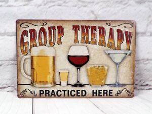 GROUP THERAPY Poster Metal Tin Signs Plaque Home Pub Bar Wall Decor Man Cave