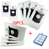 10x Vacuum Cleaner Dust Bag S-bag+Hepa Filter 1PC for Philips Electrolux Cleaner